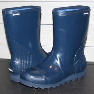 SOREL JOAN RAIN SHORT GLOSS 9 Womans Rain Boot NEW